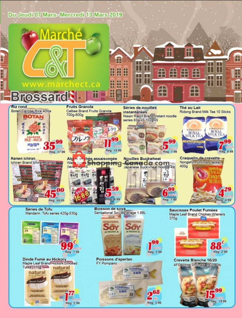 Flyer Marche C&T Canada - from Thursday March 7, 2019 to Wednesday March 13, 2019