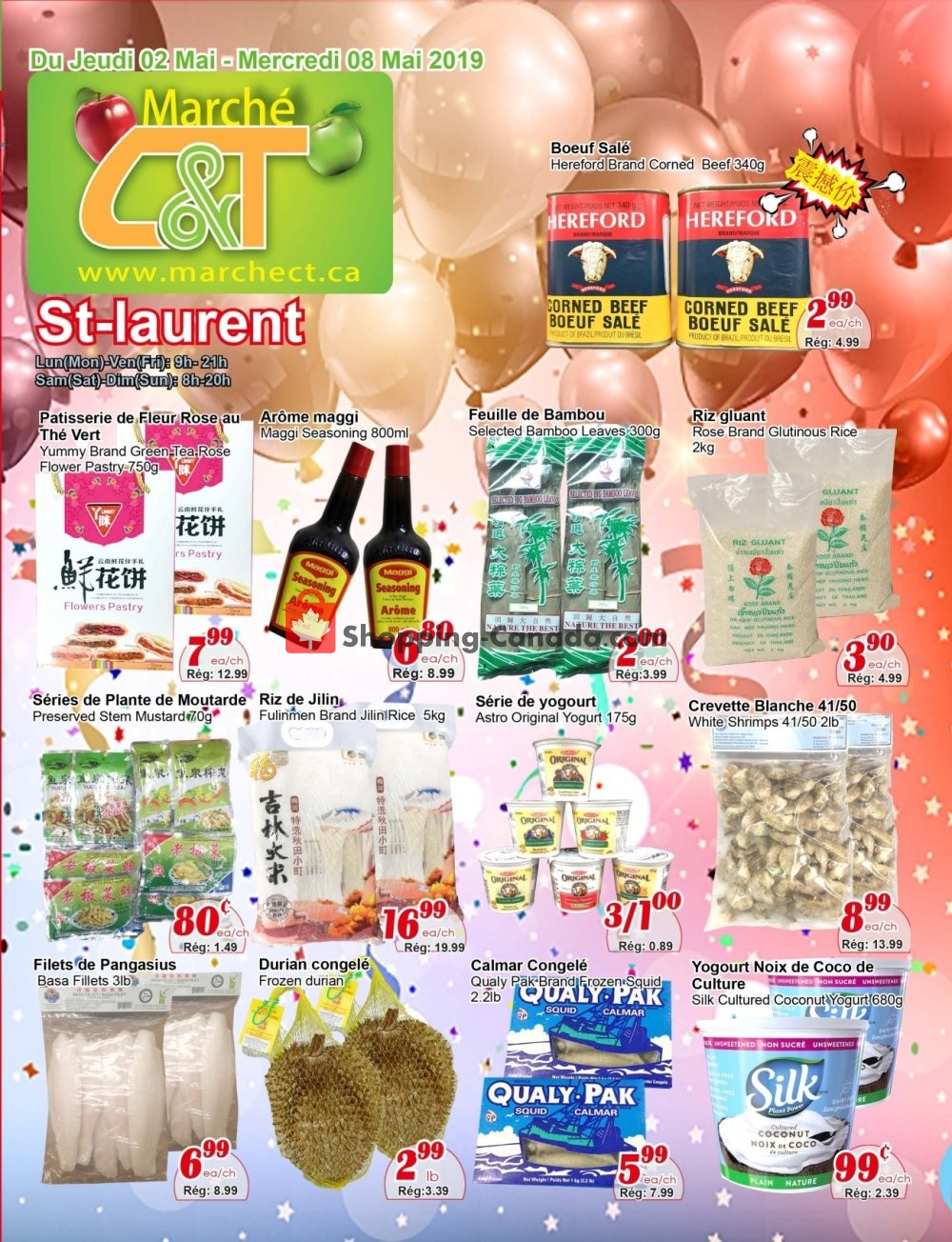 Flyer Marche C&T Canada - from Thursday May 2, 2019 to Wednesday May 8, 2019