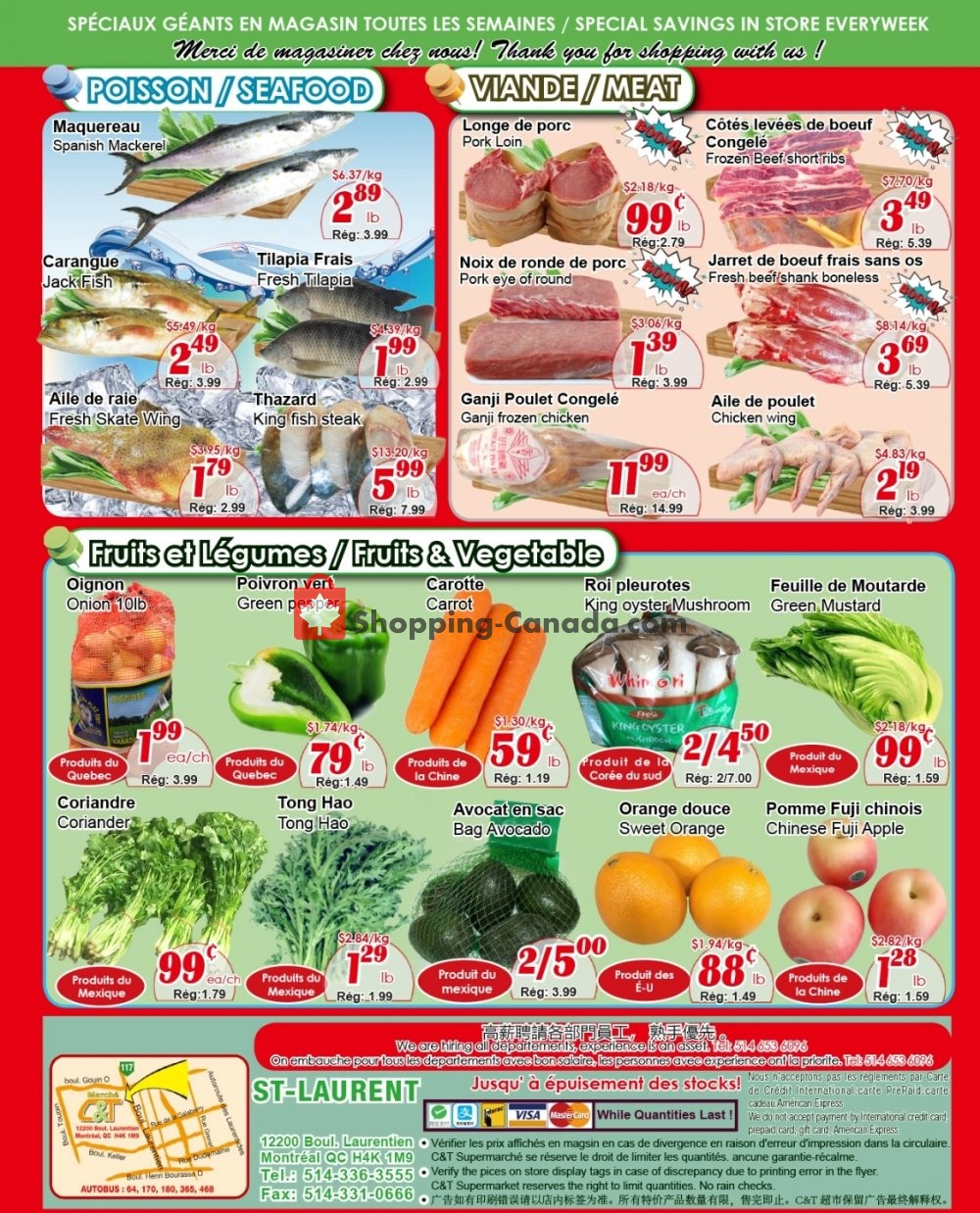 Flyer Marche C&T Canada - from Thursday November 7, 2019 to Wednesday November 13, 2019