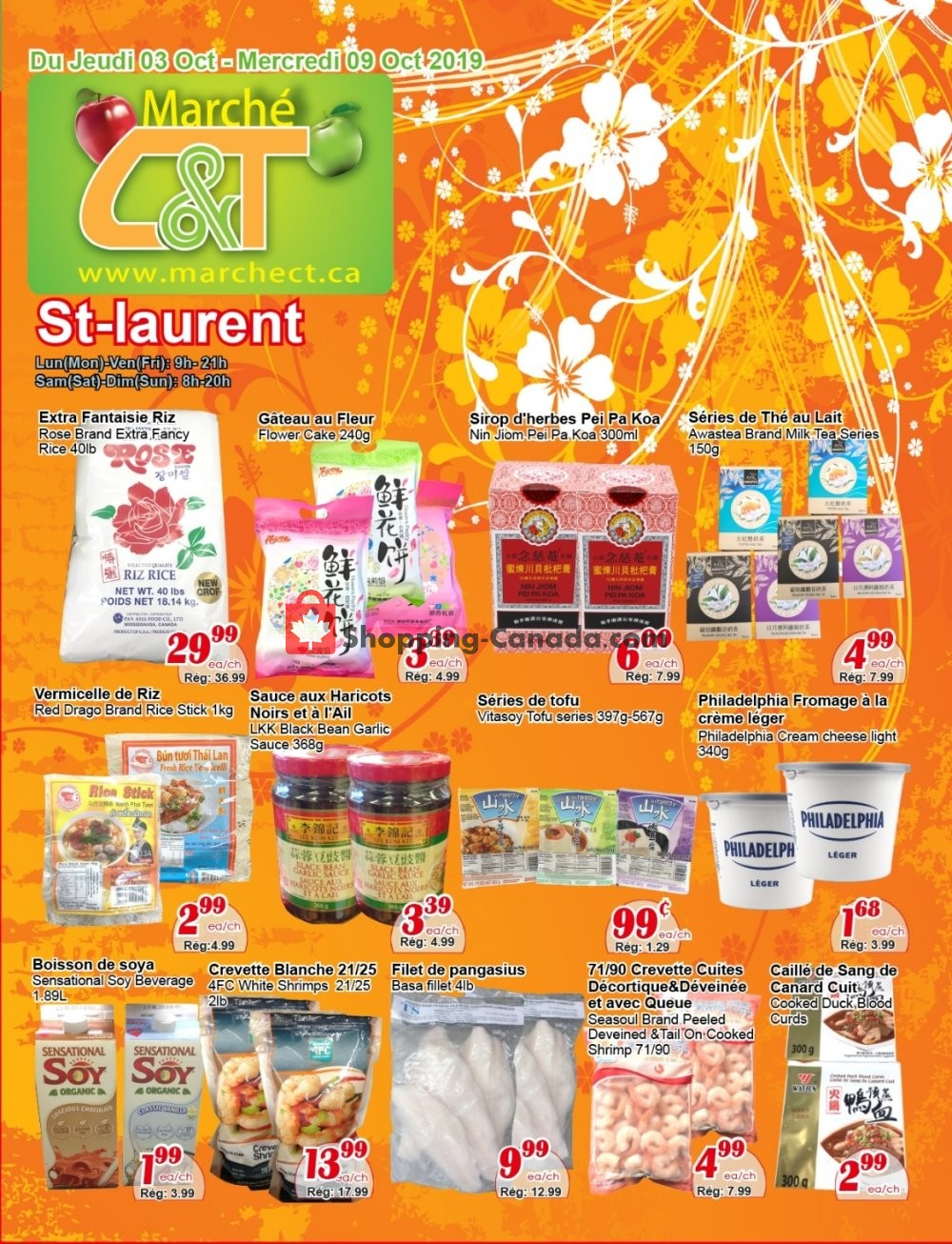 Flyer Marche C&T Canada - from Thursday October 3, 2019 to Wednesday October 9, 2019