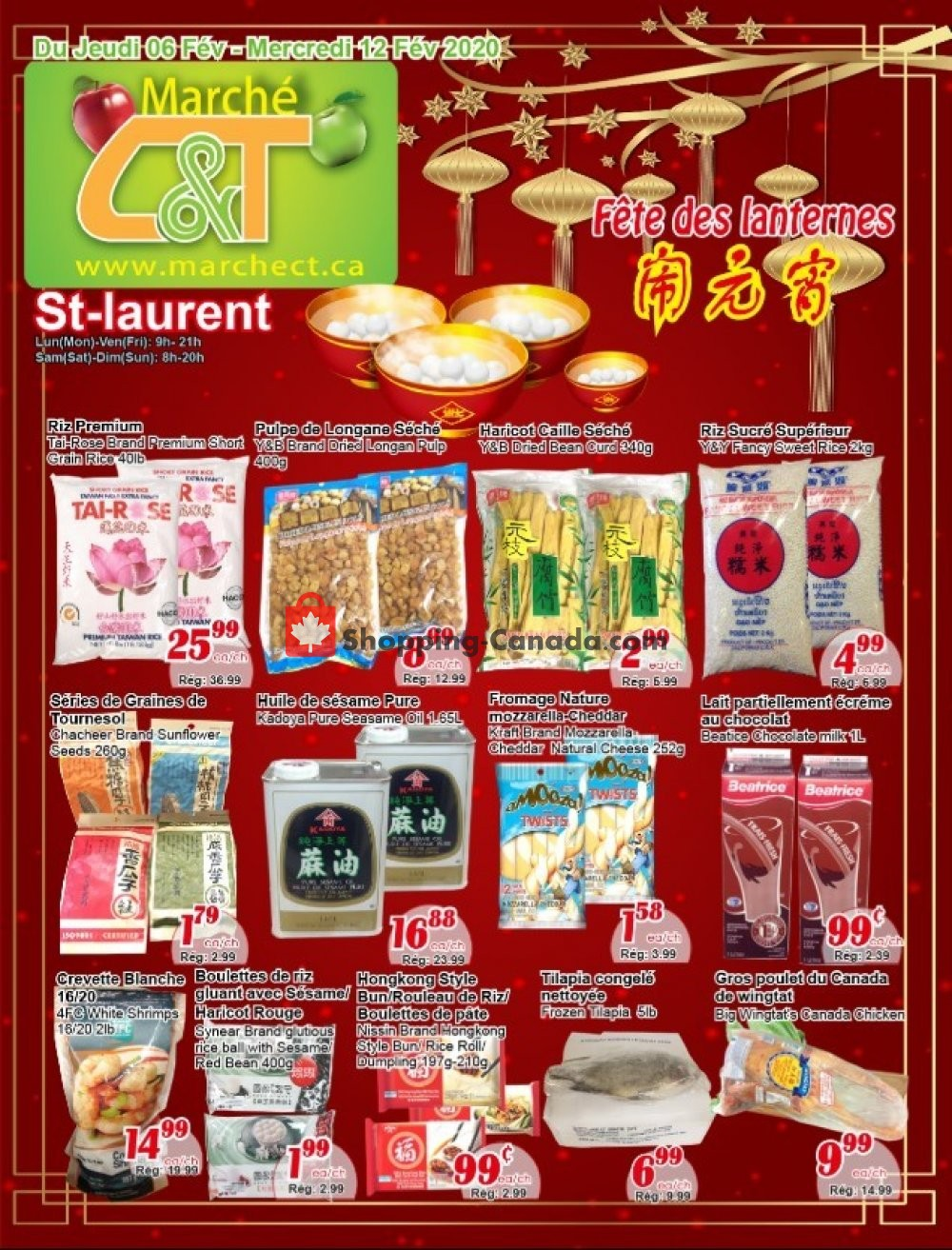 Flyer Marche C&T Canada - from Thursday February 6, 2020 to Wednesday February 12, 2020