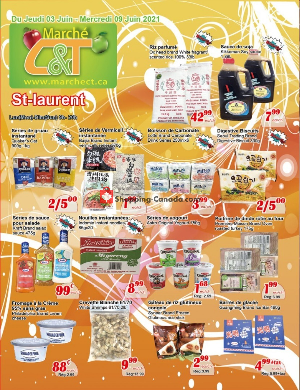 Flyer Marche C&T Canada - from Thursday June 3, 2021 to Wednesday June 9, 2021