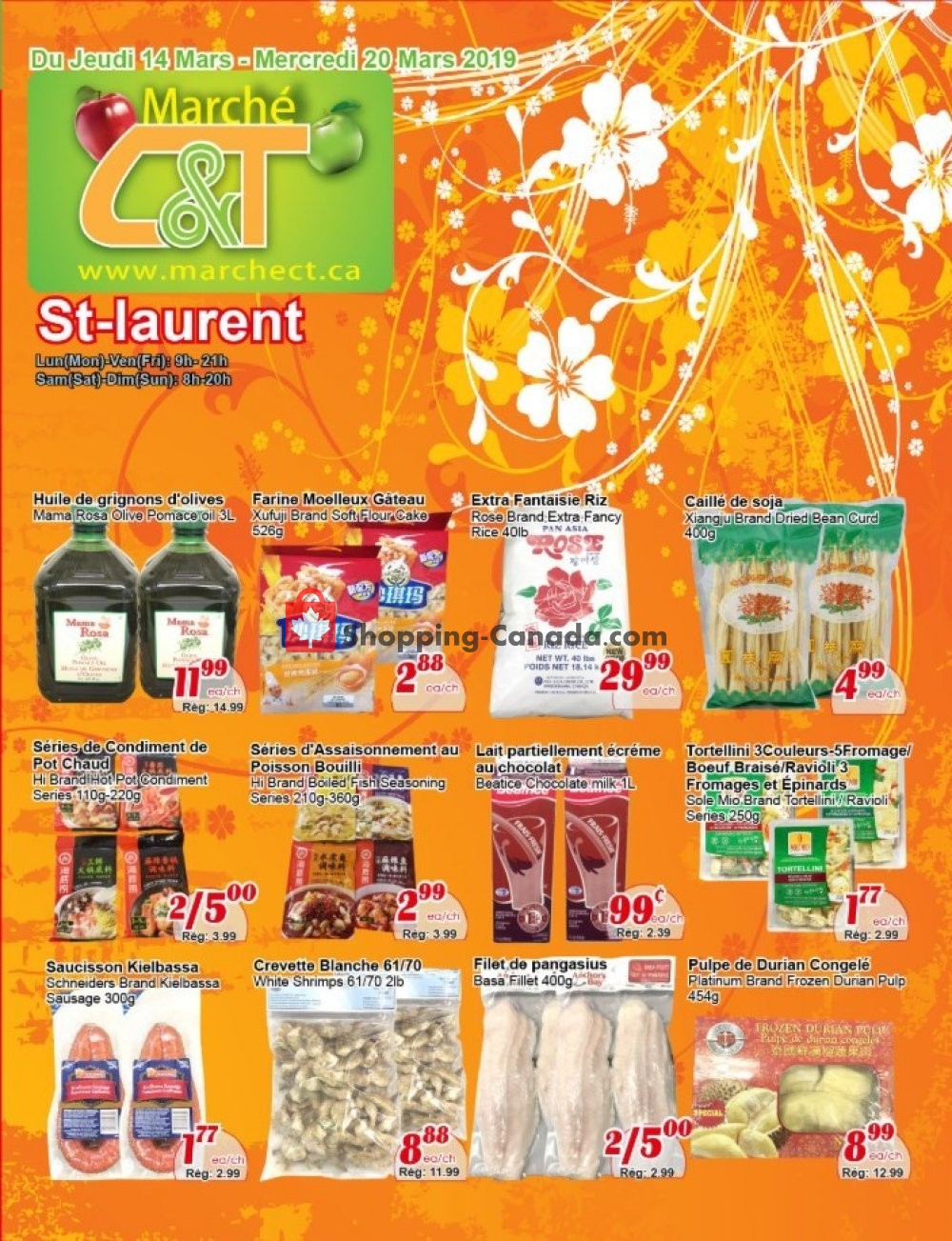 Flyer Marche C&T Canada - from Thursday March 14, 2019 to Wednesday March 20, 2019