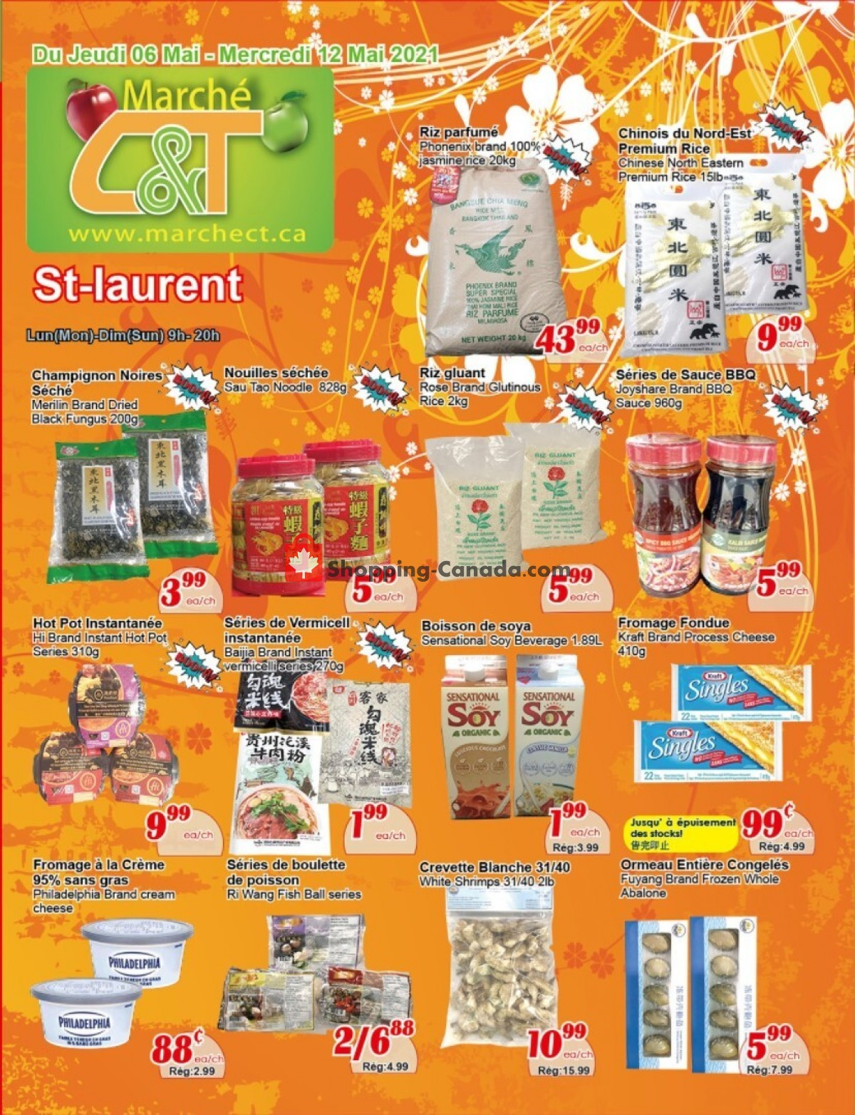 Flyer Marche C&T Canada - from Thursday May 6, 2021 to Wednesday May 12, 2021