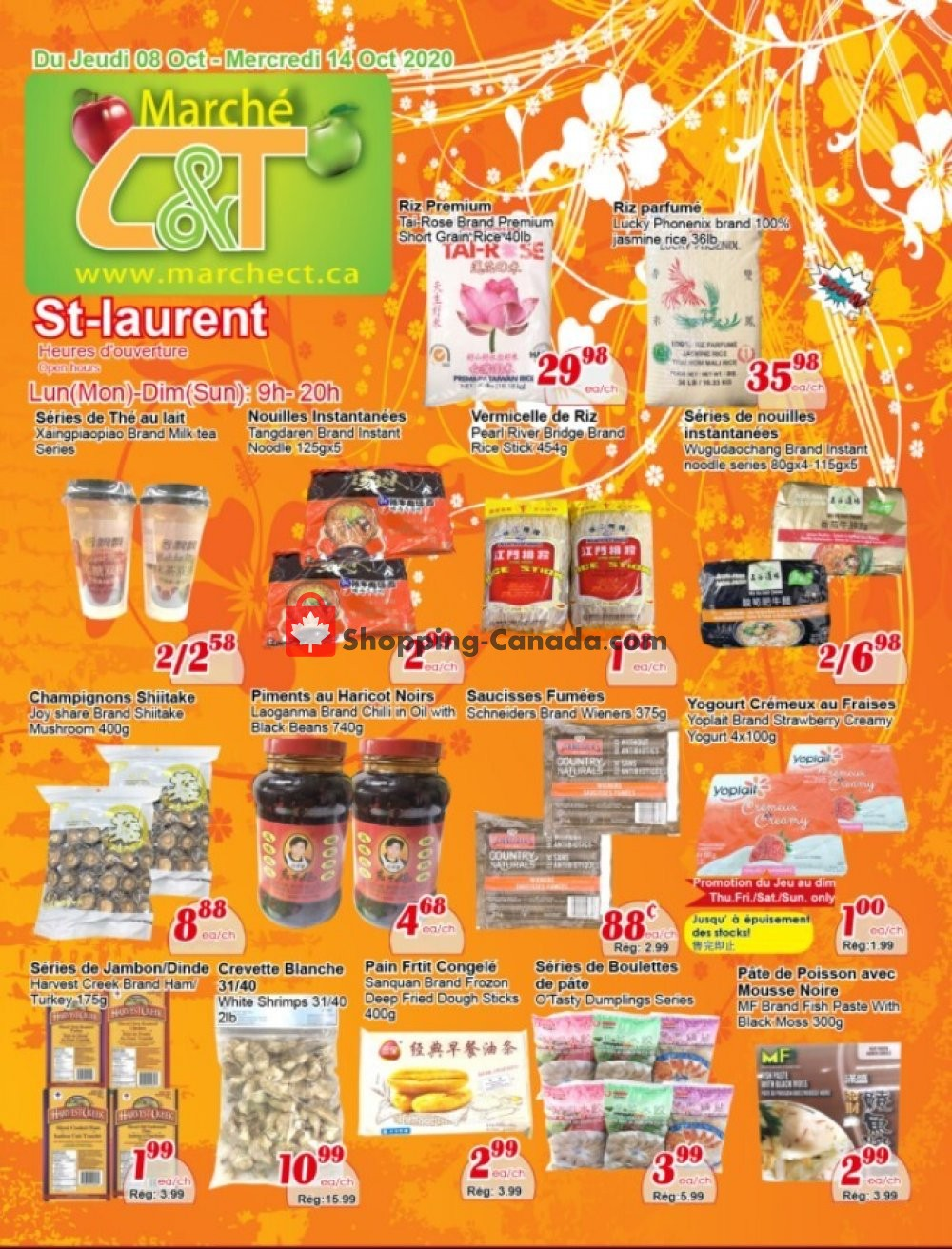 Flyer Marche C&T Canada - from Thursday October 8, 2020 to Wednesday October 14, 2020
