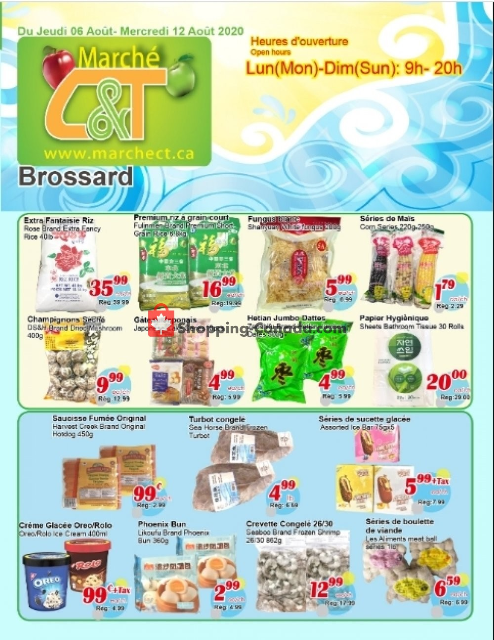 Flyer Marche C&T Canada - from Thursday August 6, 2020 to Wednesday August 12, 2020