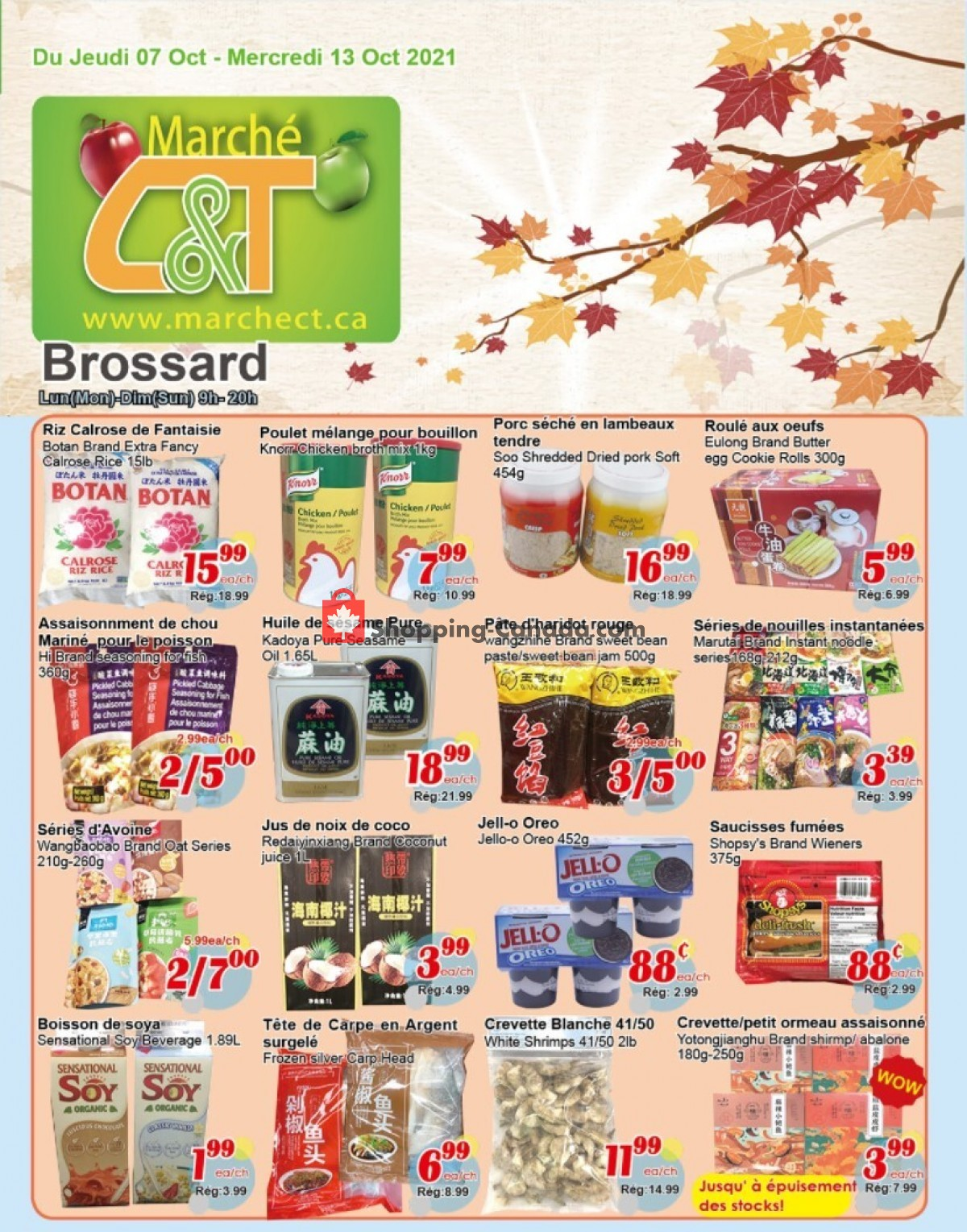 Flyer Marche C&T Canada - from Thursday October 7, 2021 to Wednesday October 13, 2021