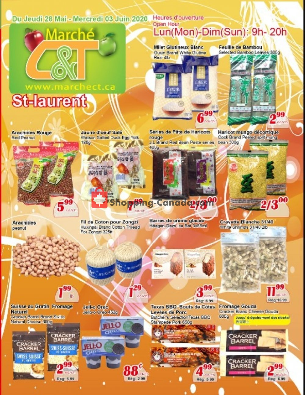 Flyer Marche C&T Canada - from Thursday May 28, 2020 to Wednesday June 3, 2020