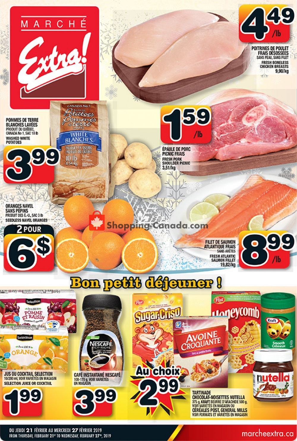 Flyer Marche Extra Canada - from Thursday February 21, 2019 to Wednesday February 27, 2019