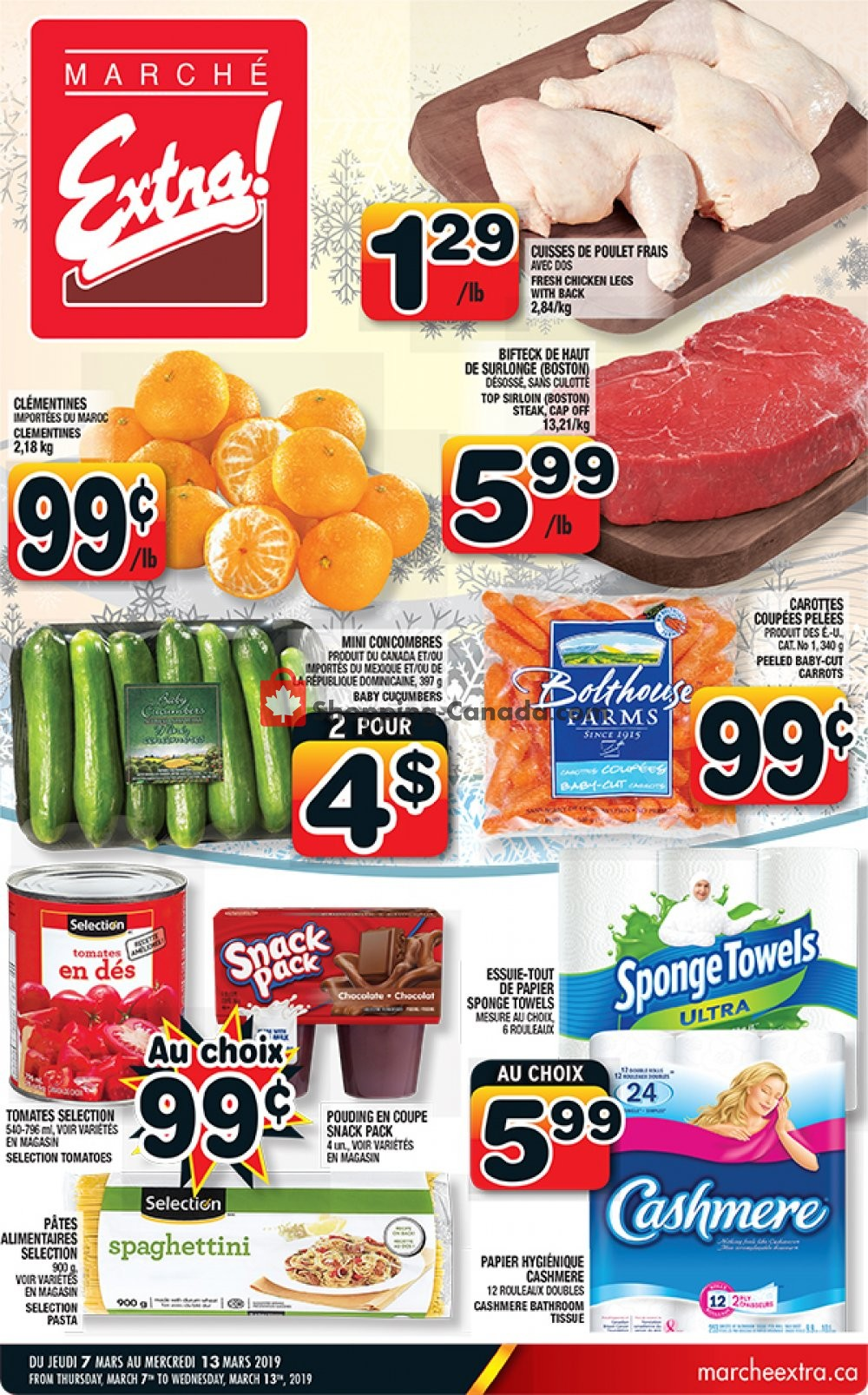 Flyer Marche Extra Canada - from Thursday March 7, 2019 to Wednesday March 13, 2019