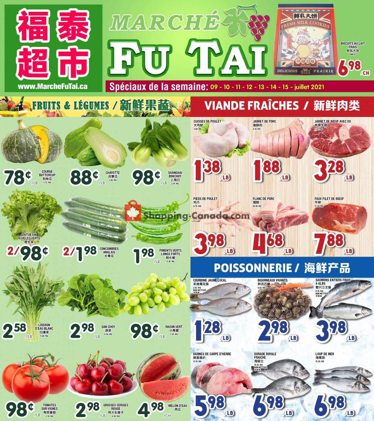 Flyer Marché Fu Tai Canada - from Friday July 9, 2021 to Thursday July 15, 2021