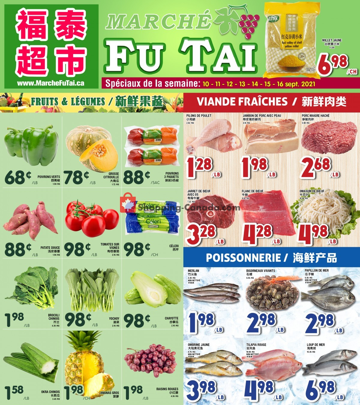 Flyer Marché Fu Tai Canada - from Friday September 10, 2021 to Thursday September 16, 2021