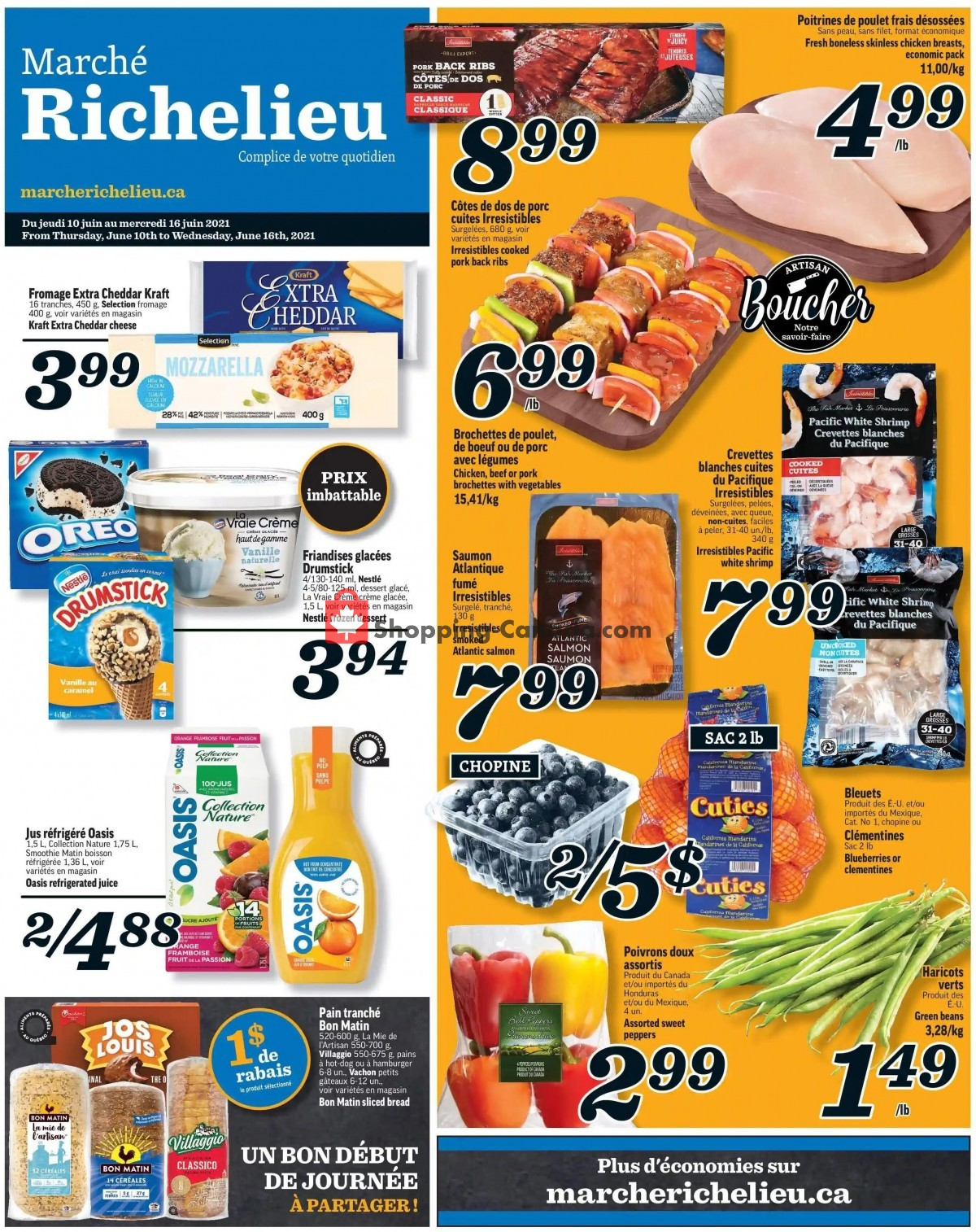 Flyer Marche Richelieu Canada - from Thursday June 10, 2021 to Wednesday June 16, 2021