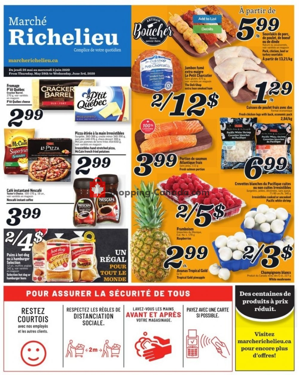 Flyer Marche Richelieu Canada - from Thursday May 28, 2020 to Wednesday June 3, 2020
