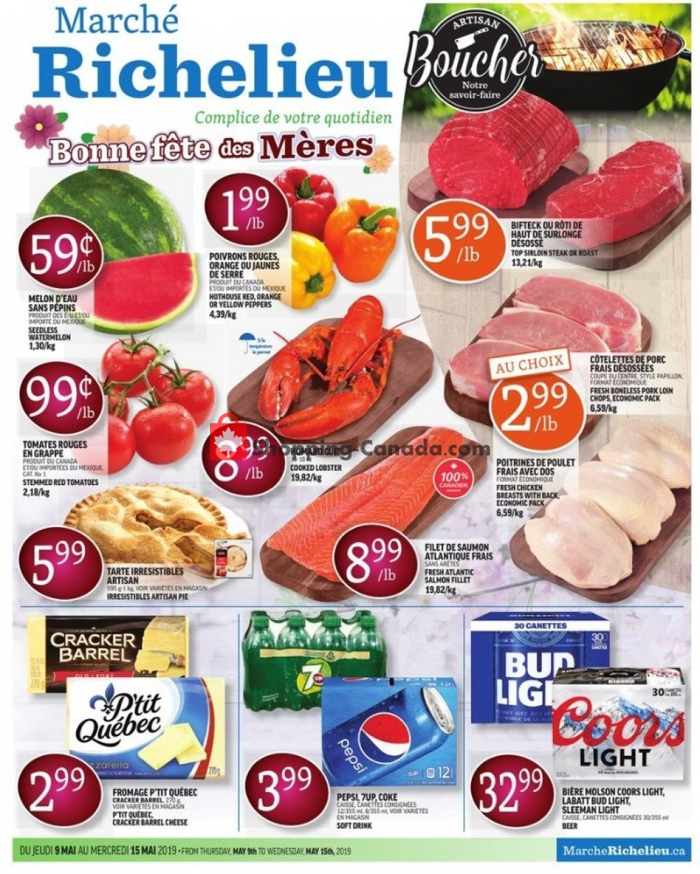 Flyer Marche Richelieu Canada - from Thursday May 9, 2019 to Wednesday May 15, 2019