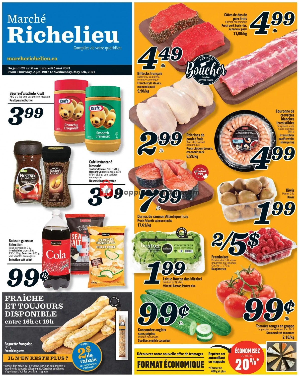 Flyer Marche Richelieu Canada - from Thursday April 29, 2021 to Wednesday May 5, 2021