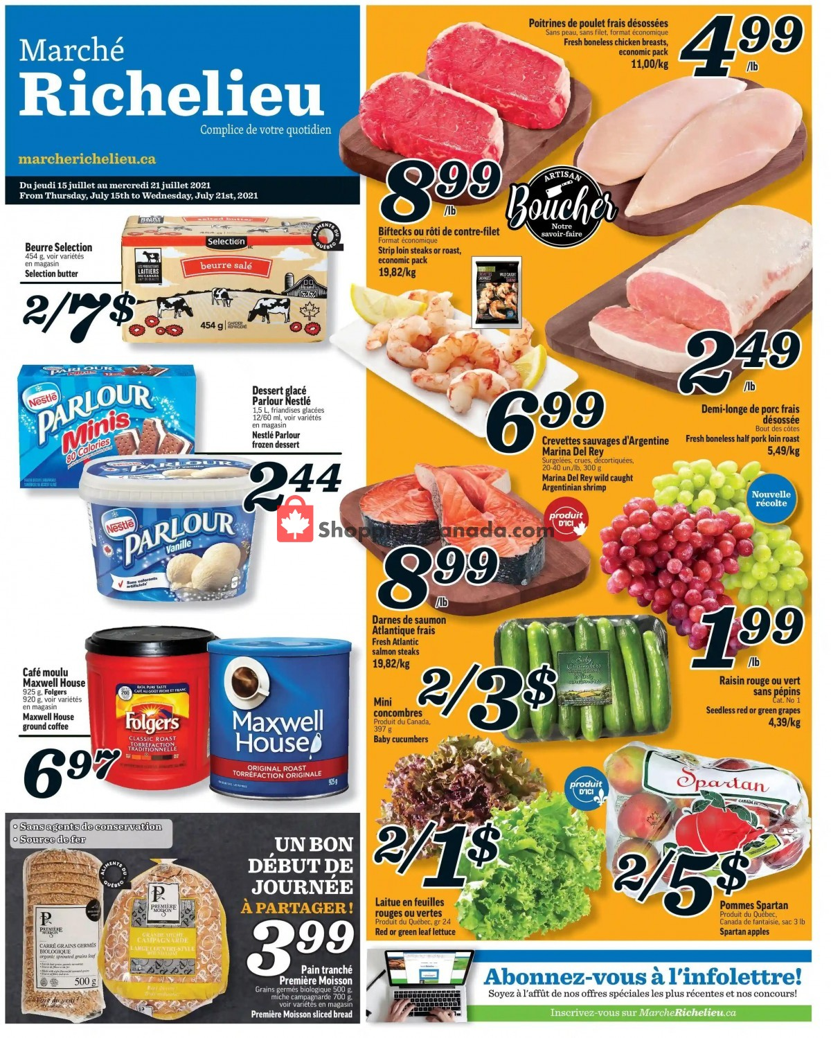 Flyer Marche Richelieu Canada - from Thursday July 15, 2021 to Wednesday July 21, 2021