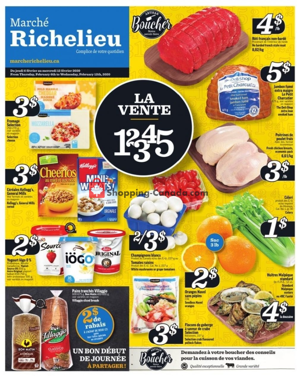 Flyer Marche Richelieu Canada - from Thursday February 6, 2020 to Wednesday February 12, 2020