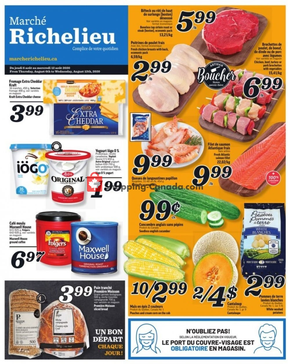 Flyer Marche Richelieu Canada - from Thursday August 6, 2020 to Wednesday August 12, 2020