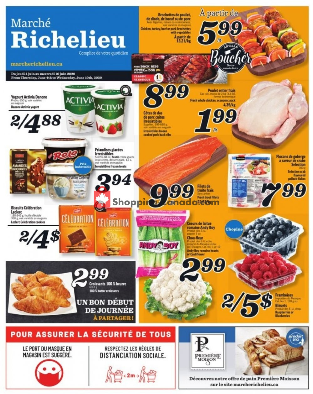 Flyer Marche Richelieu Canada - from Thursday June 4, 2020 to Wednesday June 10, 2020