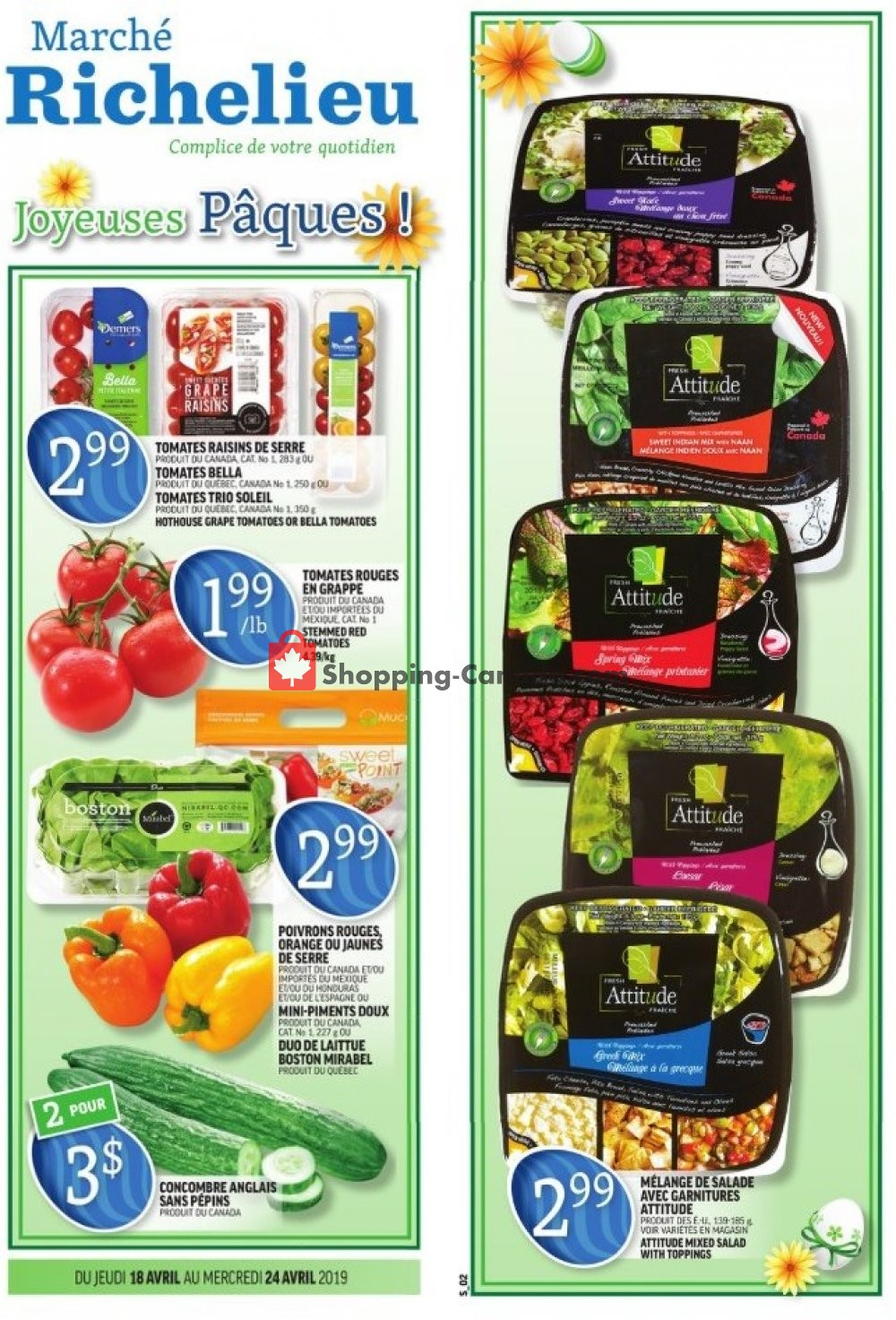 Flyer Marche Richelieu Canada - from Thursday April 18, 2019 to Wednesday April 24, 2019