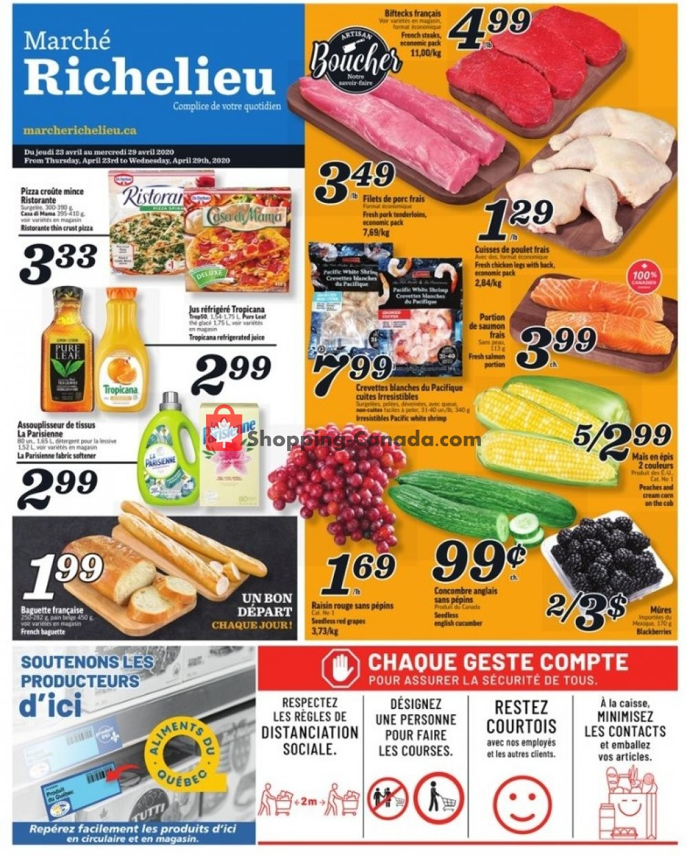 Flyer Marche Richelieu Canada - from Thursday April 23, 2020 to Wednesday April 29, 2020