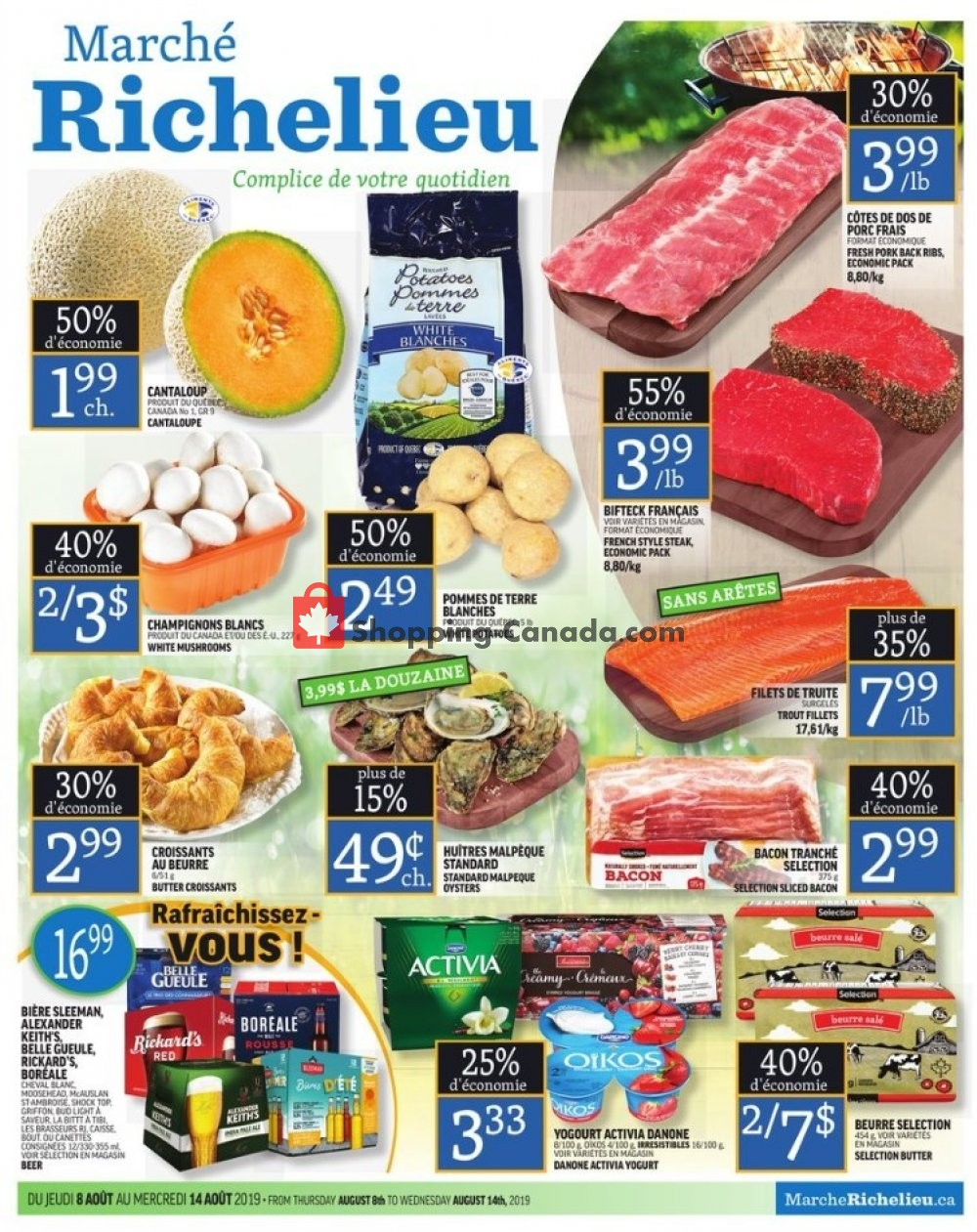 Flyer Marche Richelieu Canada - from Thursday August 8, 2019 to Wednesday August 14, 2019