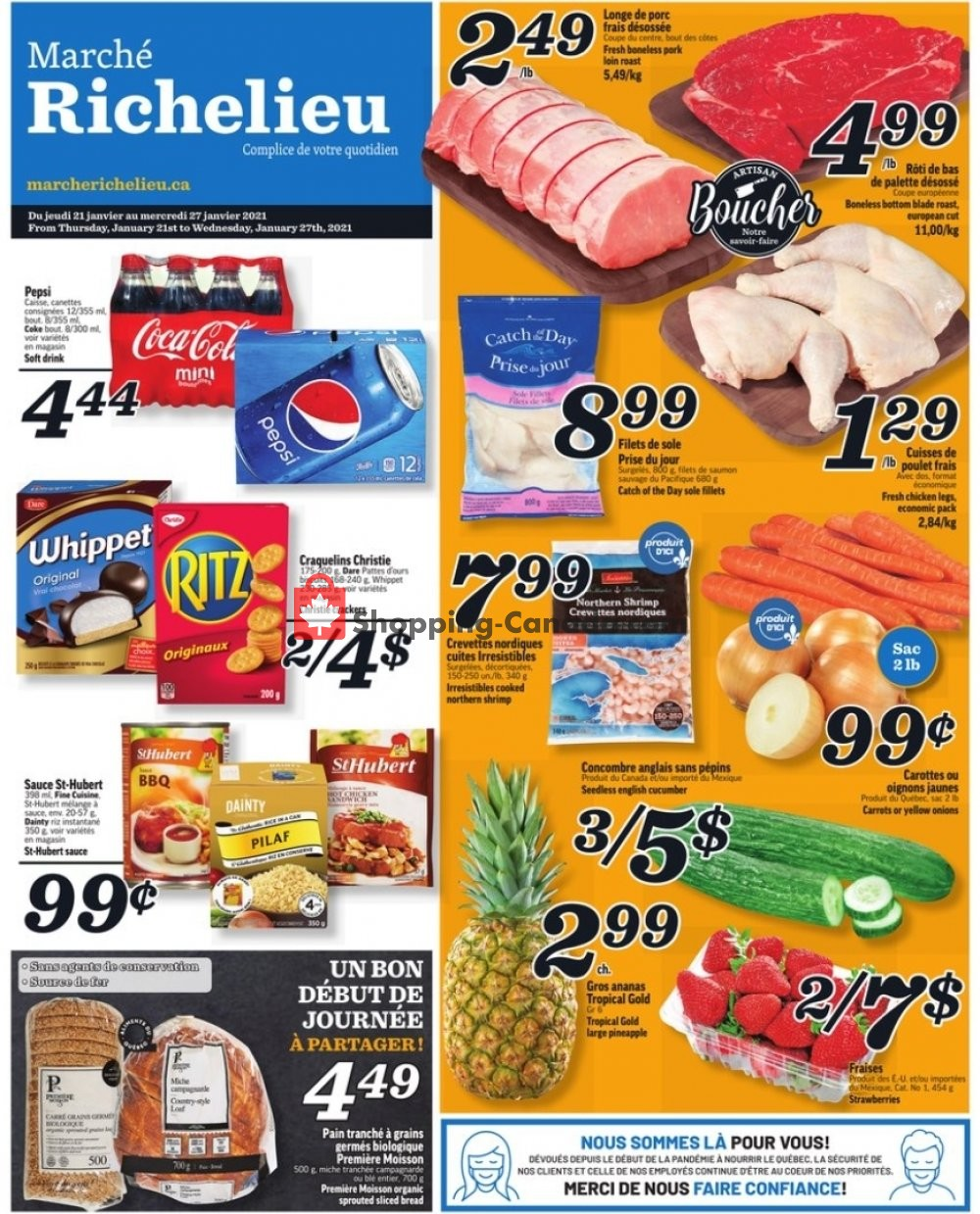 Flyer Marche Richelieu Canada - from Thursday January 21, 2021 to Wednesday January 27, 2021