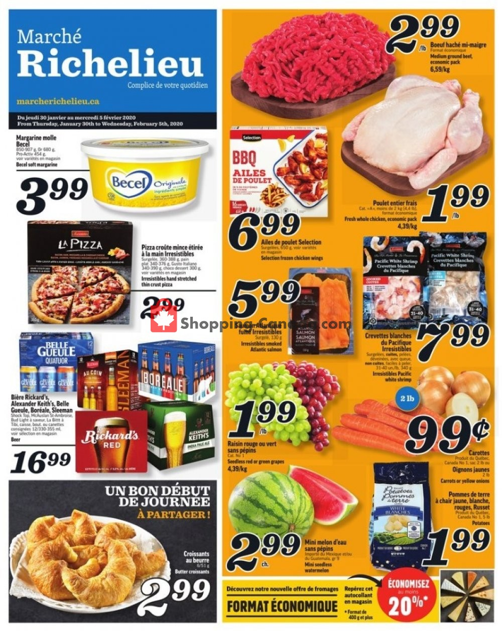 Flyer Marche Richelieu Canada - from Thursday January 30, 2020 to Wednesday February 5, 2020