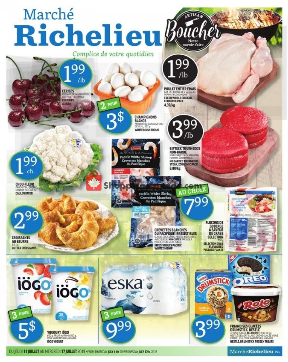 Flyer Marche Richelieu Canada - from Thursday July 11, 2019 to Wednesday July 17, 2019