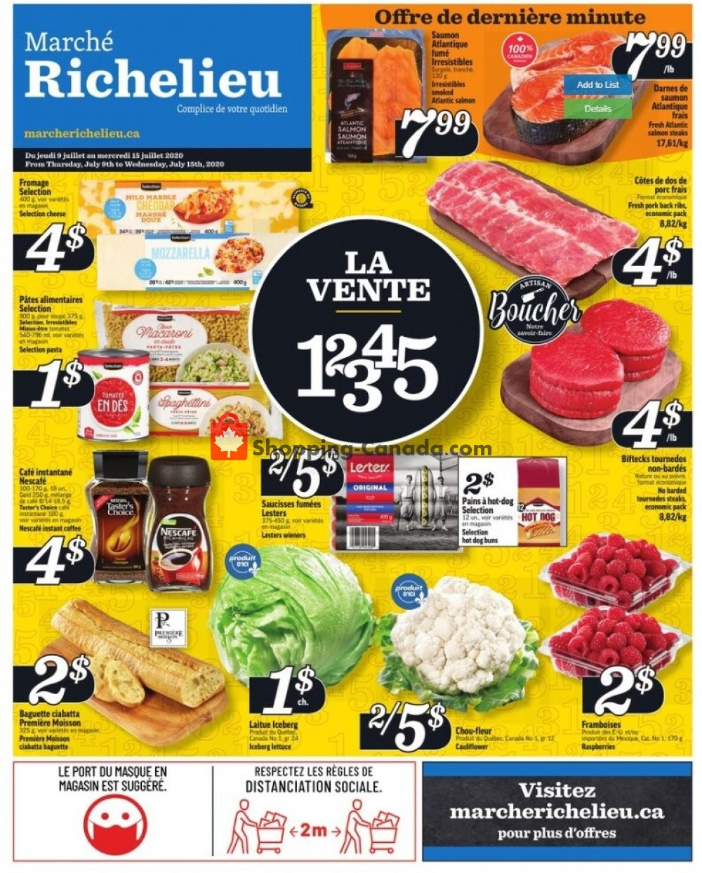Flyer Marche Richelieu Canada - from Thursday July 9, 2020 to Wednesday July 15, 2020