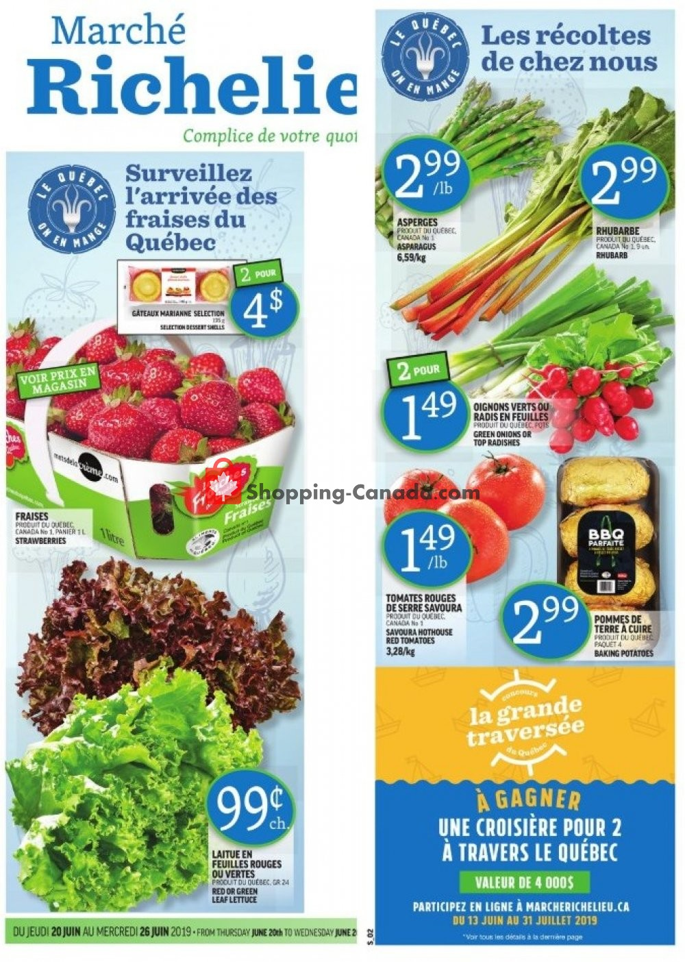Flyer Marche Richelieu Canada - from Thursday June 20, 2019 to Wednesday June 26, 2019