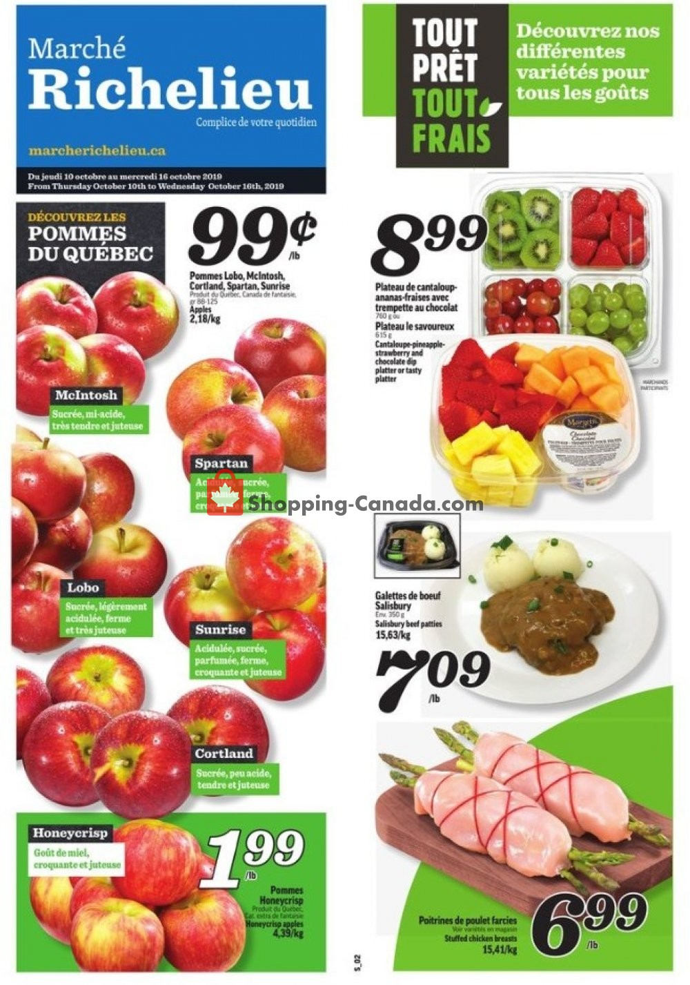 Flyer Marche Richelieu Canada - from Thursday October 10, 2019 to Wednesday October 16, 2019