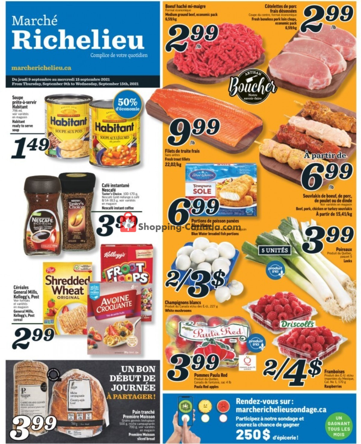 Flyer Marche Richelieu Canada - from Thursday September 9, 2021 to Wednesday September 15, 2021
