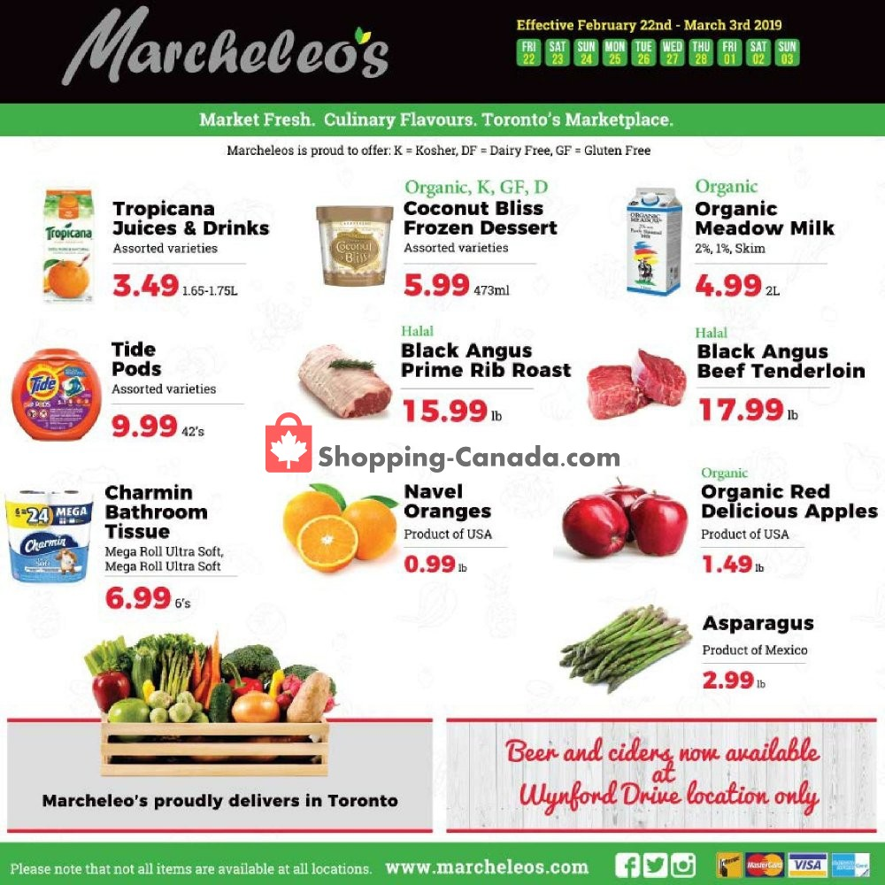 Flyer Marcheleo's Canada - from Friday February 22, 2019 to Sunday March 3, 2019