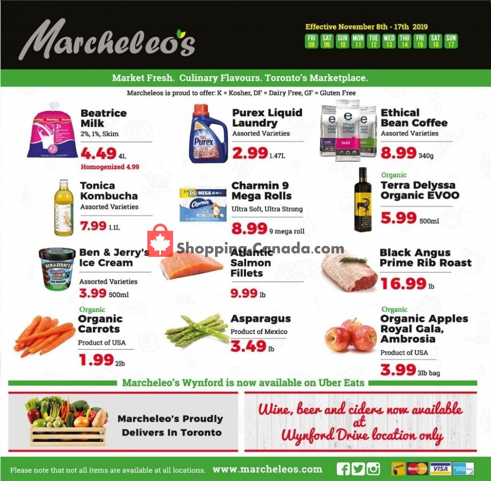 Flyer Marcheleo's Canada - from Friday November 8, 2019 to Sunday November 17, 2019