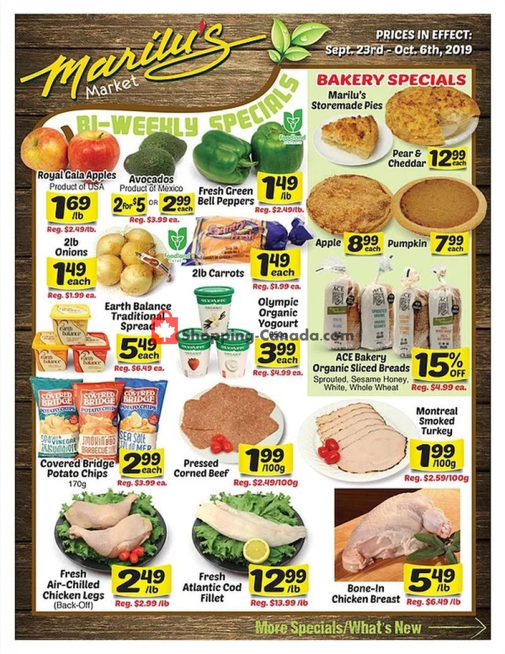 Flyer Marilu's Market Canada - from Monday September 23, 2019 to Sunday October 6, 2019