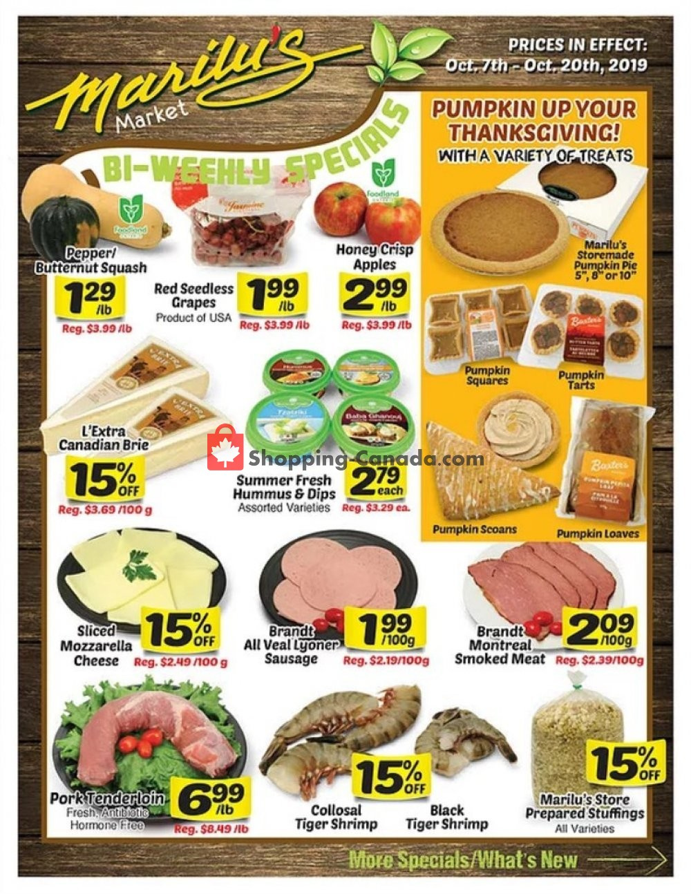 Flyer Marilu's Market Canada - from Monday October 7, 2019 to Sunday October 20, 2019