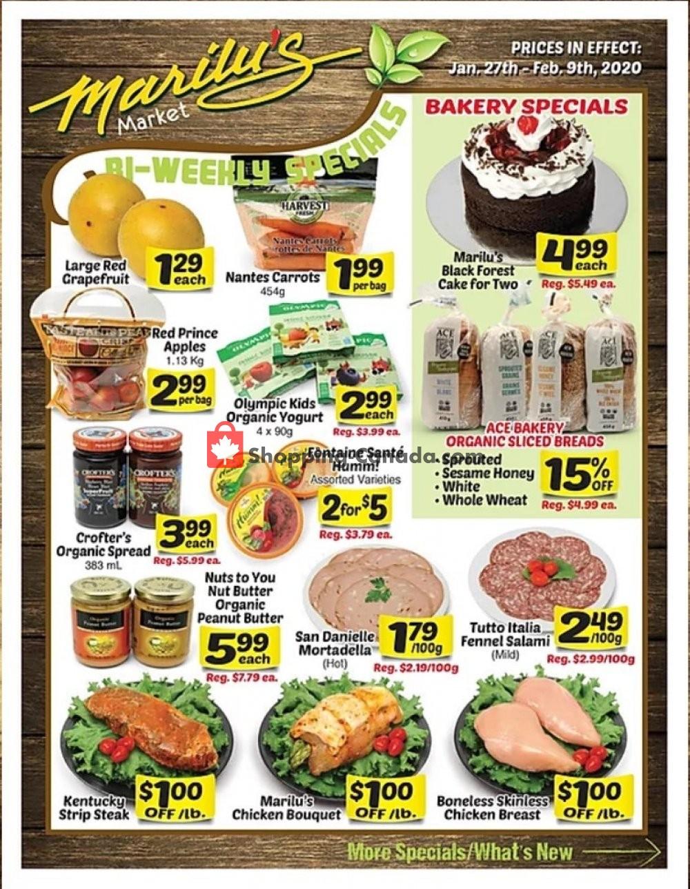 Flyer Marilu's Market Canada - from Monday January 27, 2020 to Sunday February 9, 2020