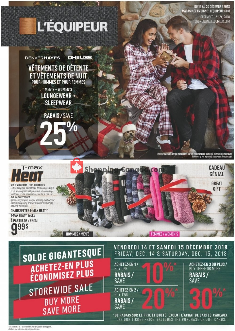 Flyer Mark's Work Wearhouse Canada - from Wednesday December 12, 2018 to Monday December 24, 2018