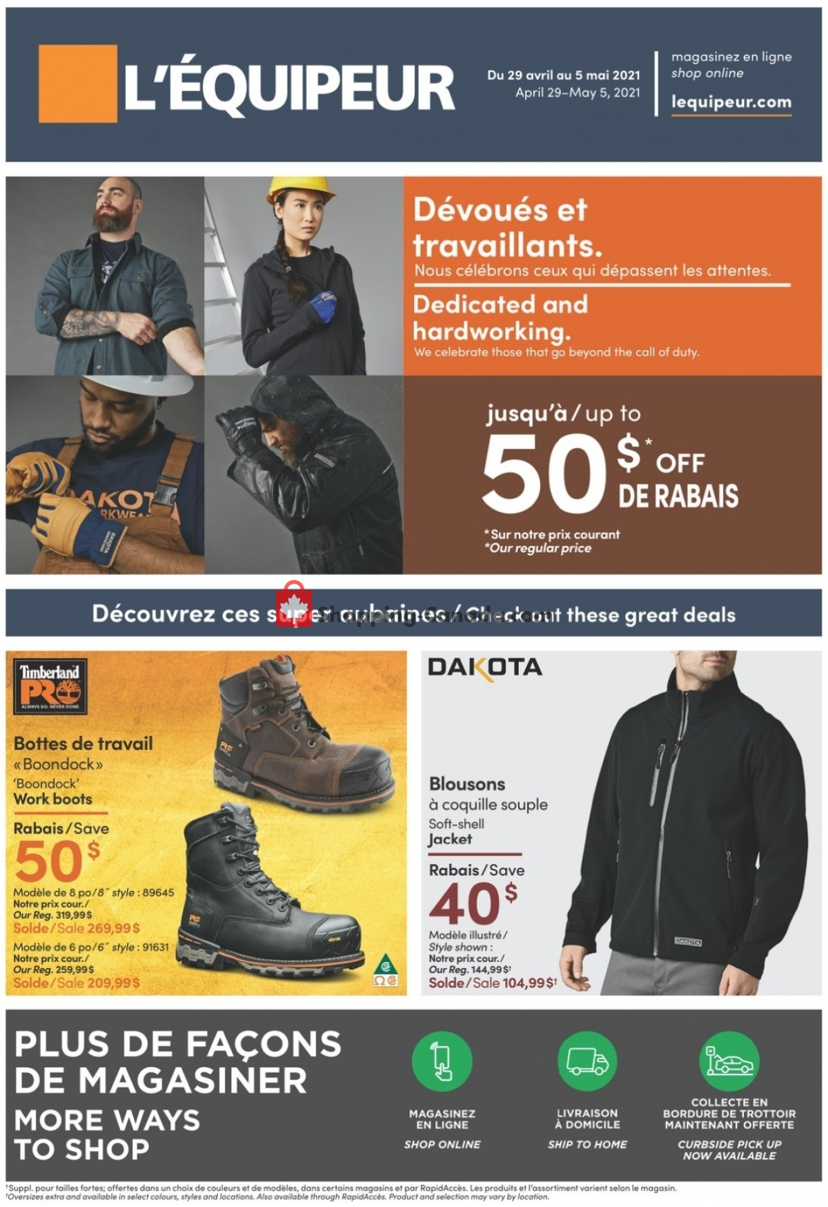 Flyer Mark's Work Wearhouse Canada - from Thursday April 29, 2021 to Wednesday May 5, 2021