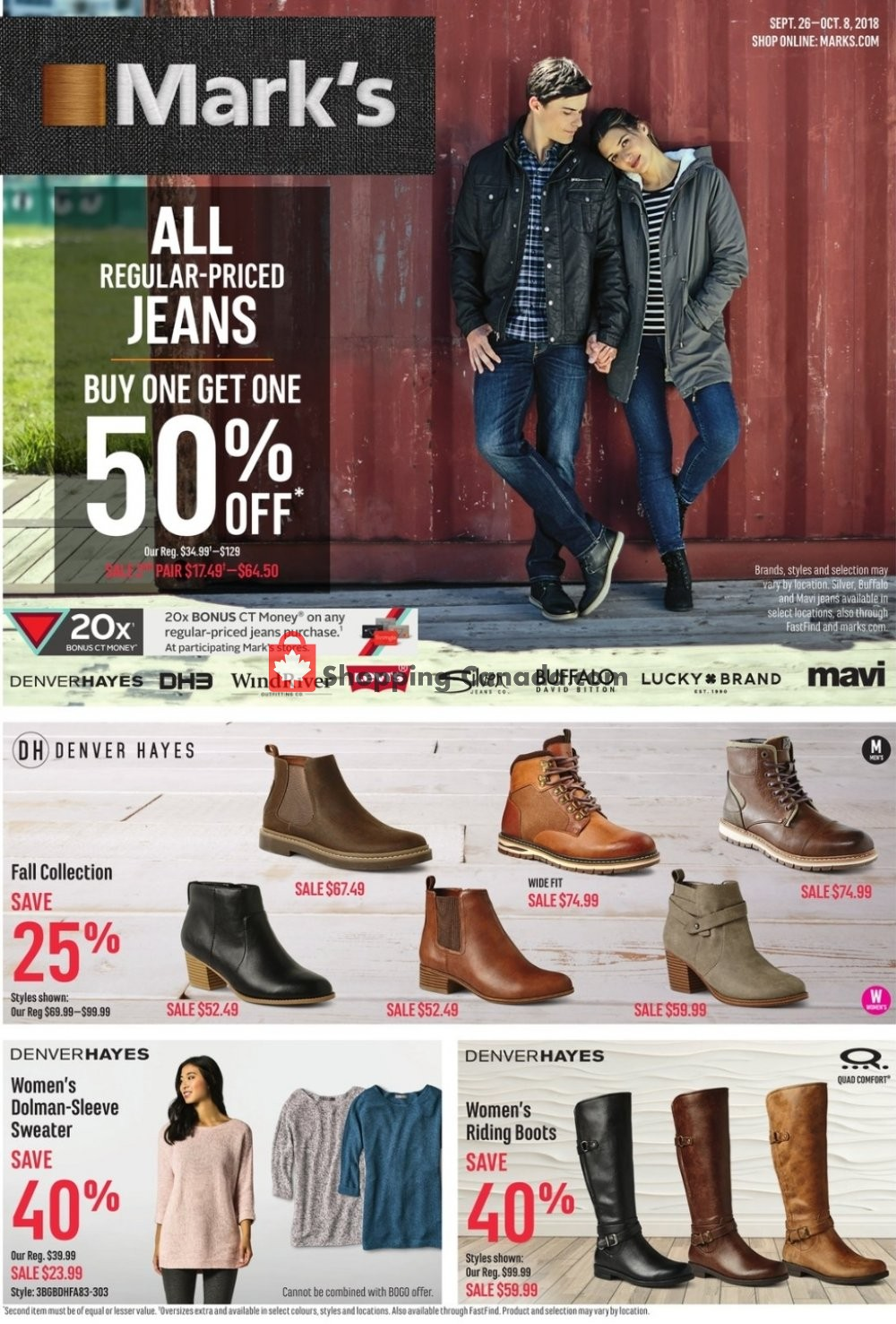 Flyer Mark's Work Wearhouse Canada - from Wednesday September 26, 2018 to Monday October 8, 2018