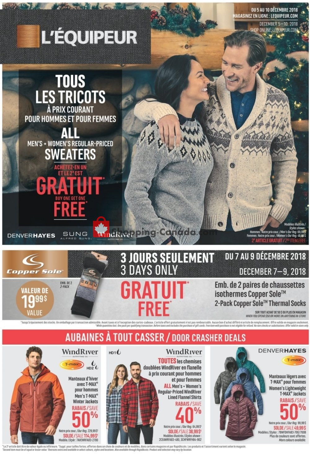Flyer Mark's Work Wearhouse Canada - from Wednesday December 5, 2018 to Monday December 10, 2018