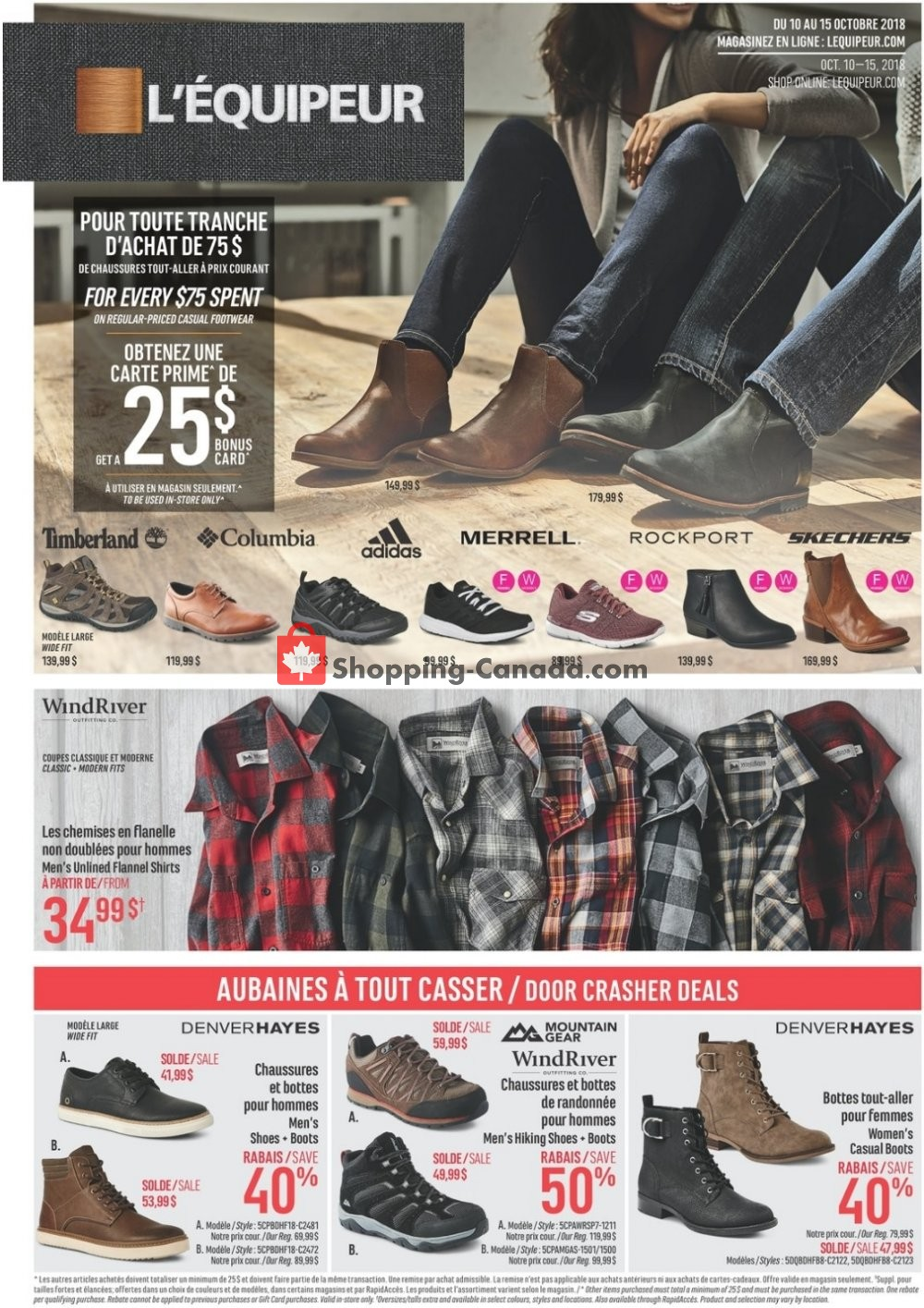 Flyer Mark's Work Wearhouse Canada - from Wednesday October 10, 2018 to Monday October 15, 2018