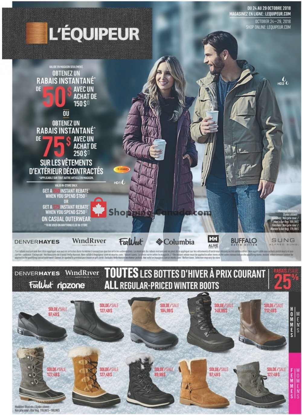 Flyer Mark's Work Wearhouse Canada - from Wednesday October 24, 2018 to Monday October 29, 2018