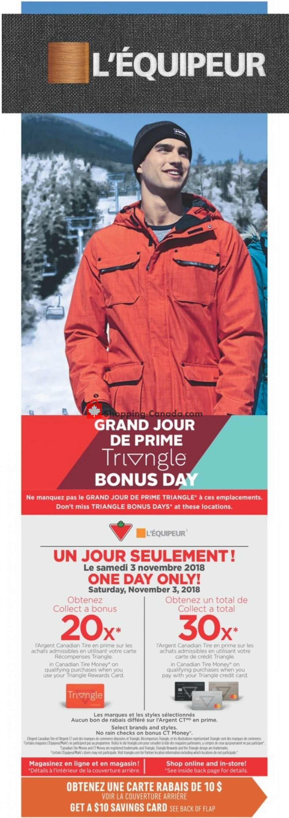Flyer Mark's Work Wearhouse Canada - from Wednesday October 31, 2018 to Monday November 5, 2018