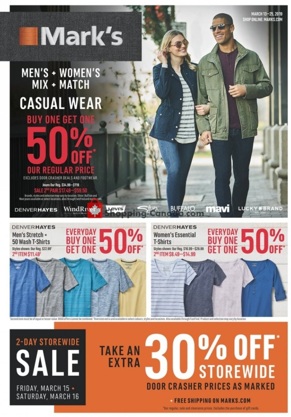 Flyer Mark's Work Wearhouse Canada - from Wednesday March 13, 2019 to Monday March 25, 2019