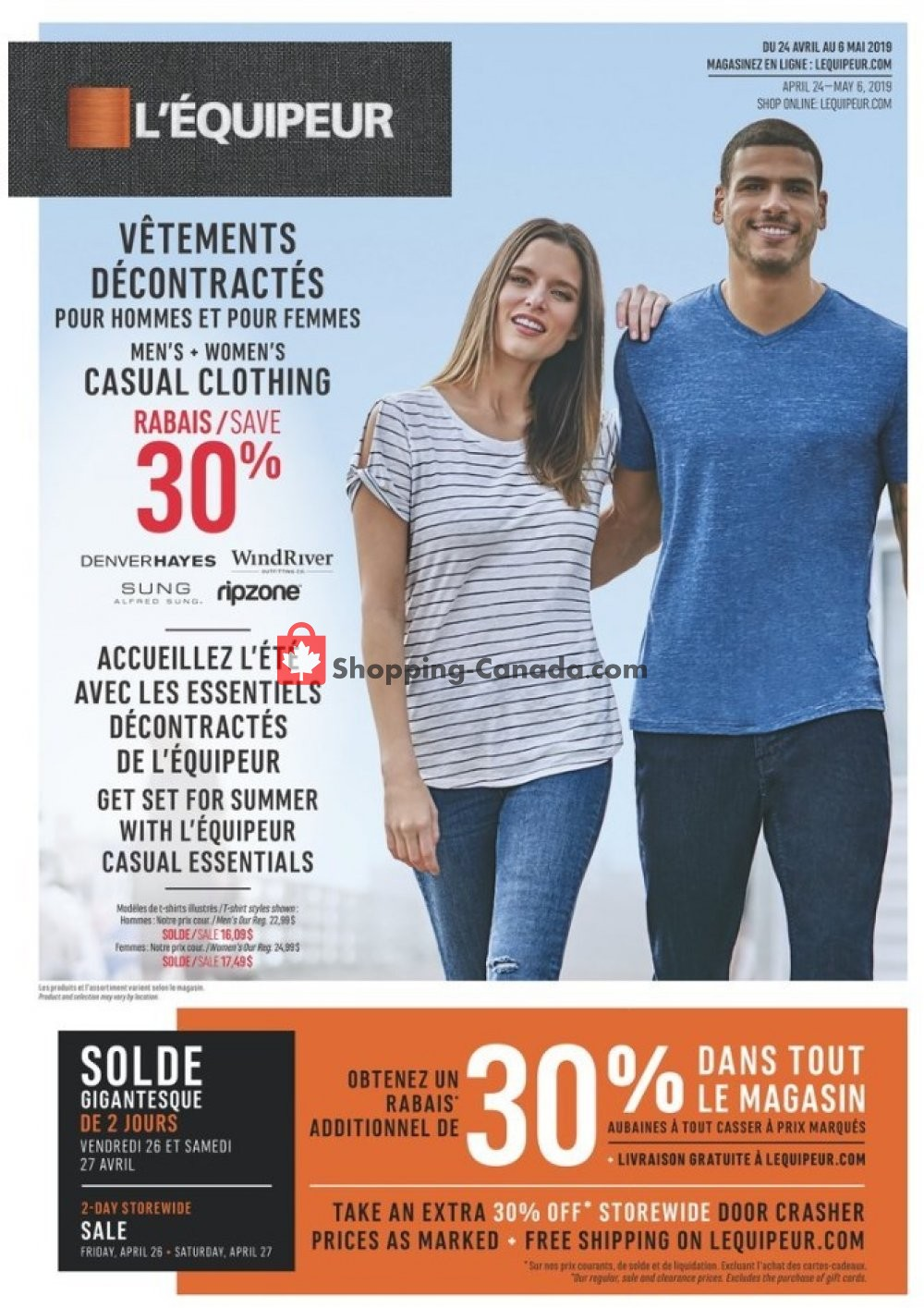 Flyer Mark's Work Wearhouse Canada - from Wednesday April 24, 2019 to Monday May 6, 2019