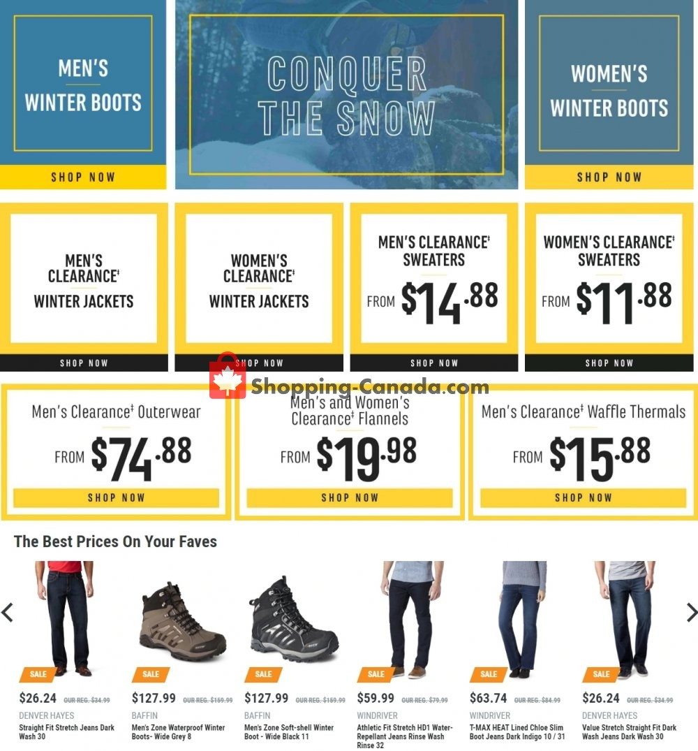 Flyer Mark's Work Wearhouse Canada - from Wednesday January 23, 2019 to Tuesday January 29, 2019