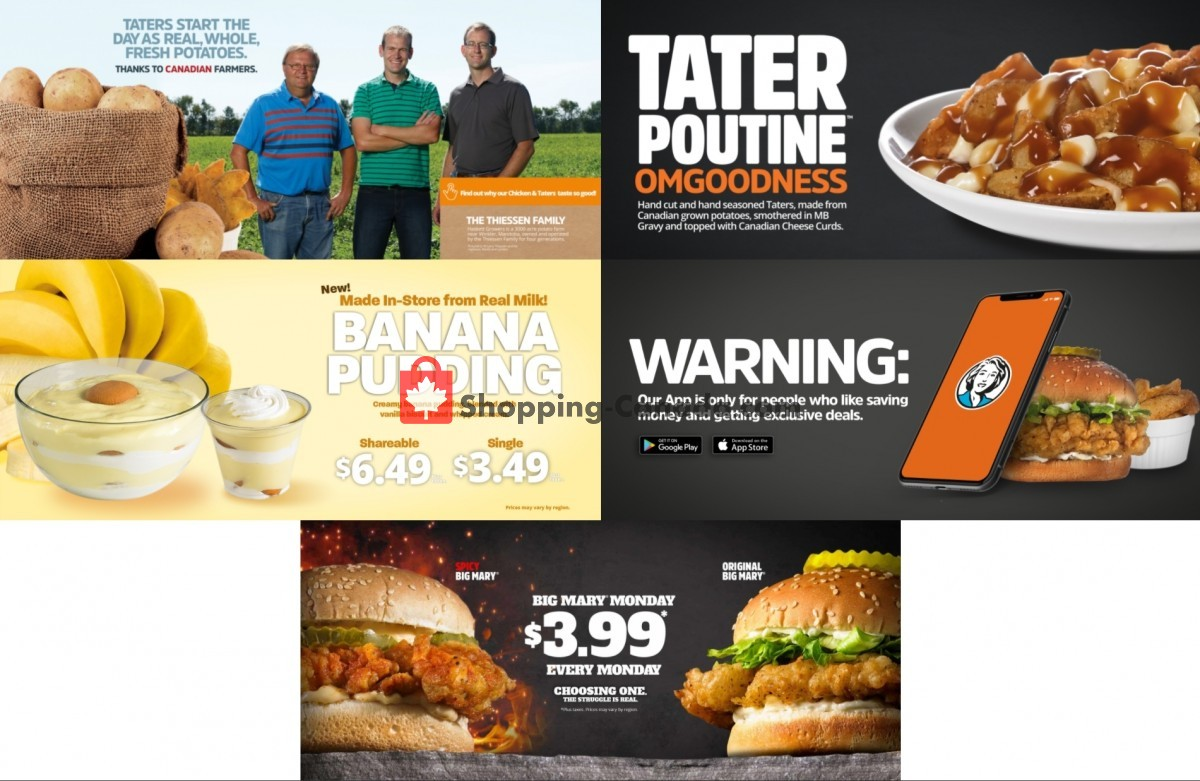 Flyer Mary Brown's Chicken Canada - from Sunday October 3, 2021 to Saturday October 16, 2021